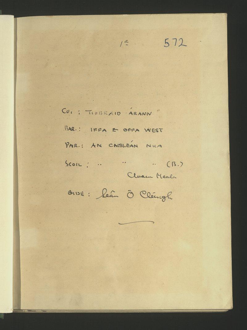 An Caisleán Nua (B.), Cluain Meala | The Schools' Collection