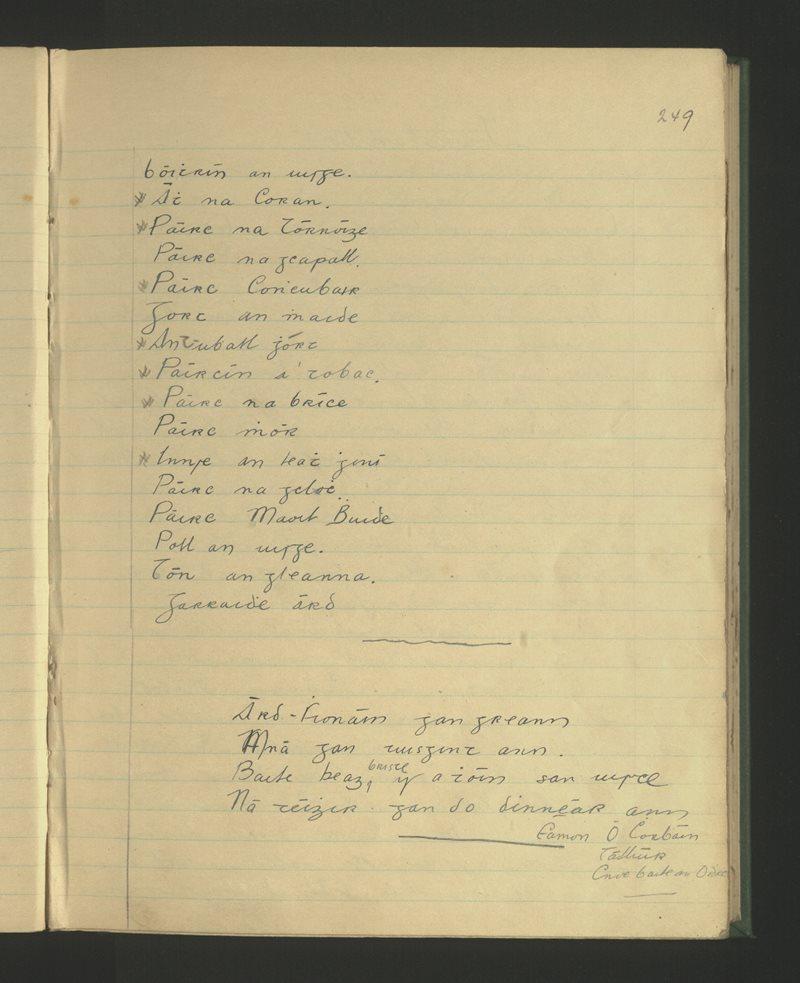 An Churrach (Crogh), Árd Fhionáin | The Schools' Collection
