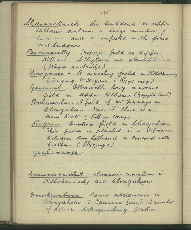Kilbane, Broadford | The Schools' Collection