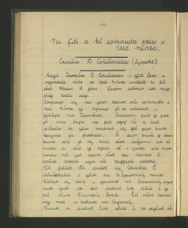 Na Filí a Bhí Cónaí Orthu i Leath h-Ínse - Cristóir Ó Coluíosachta (Lysacht)