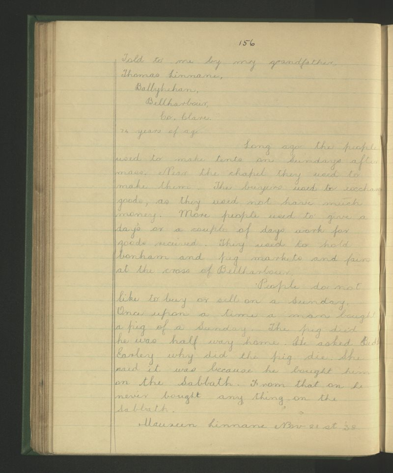 Turlough, Béal an Chloga | The Schools' Collection