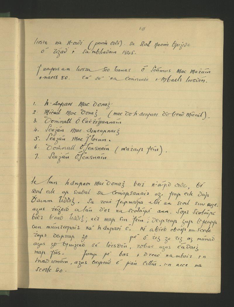 Liosta na nOidí (Priomhoidí) sa Scoil Naomh Bhrighide ó Tógadh í sa mBliain 1845