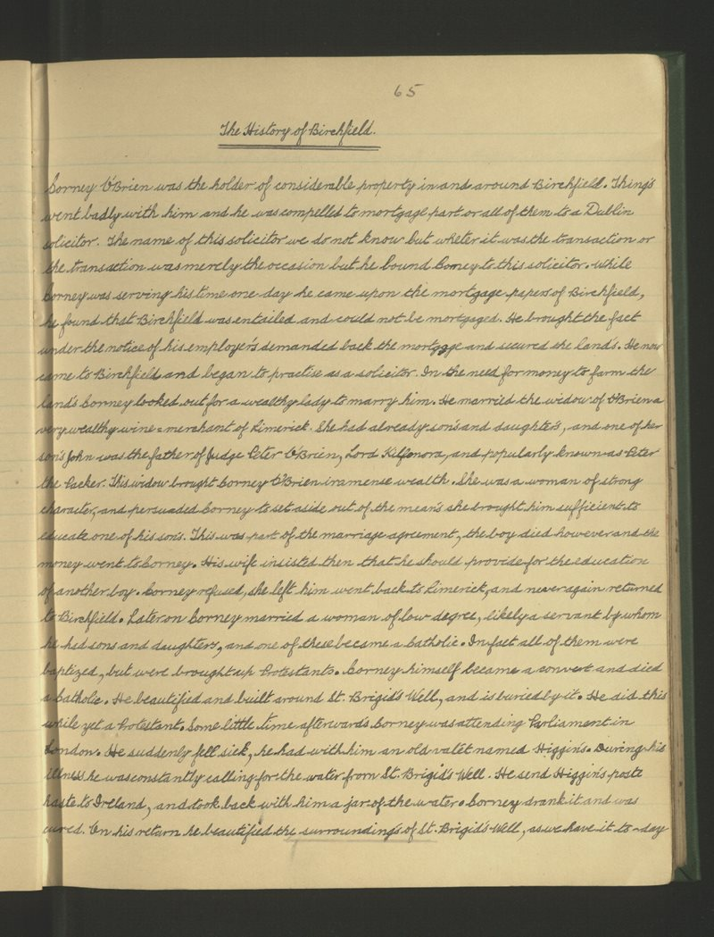 The History of Birchfield