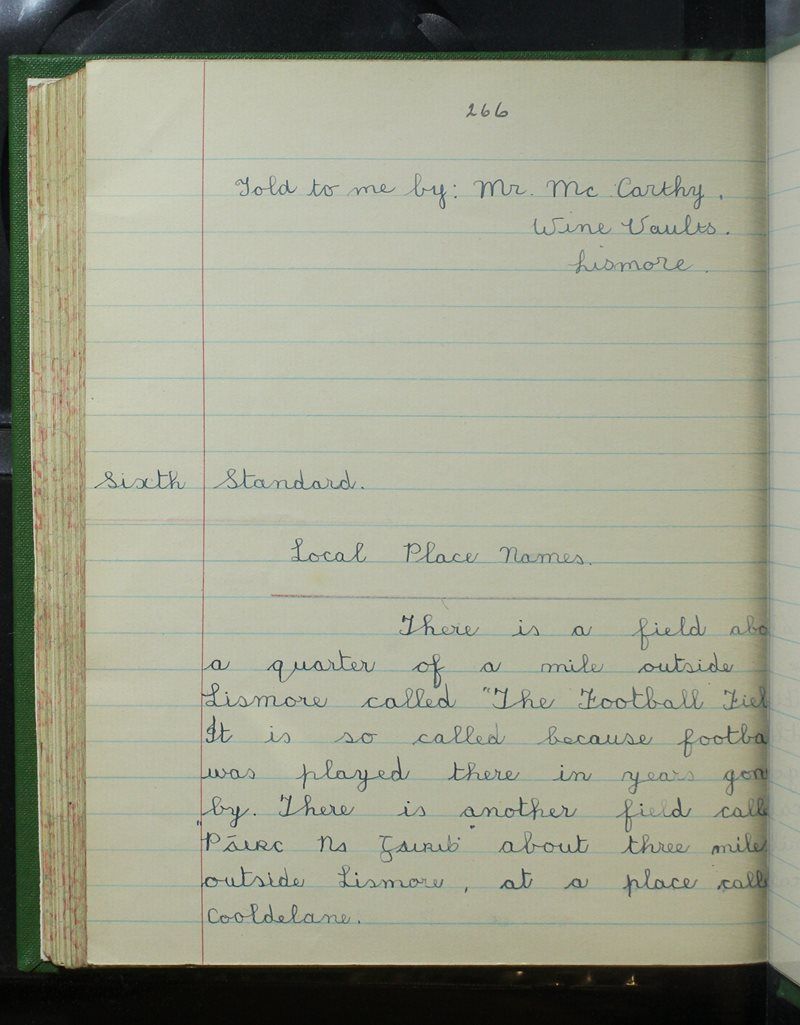 Clochar na Toirbhirte   The Schools' Collection