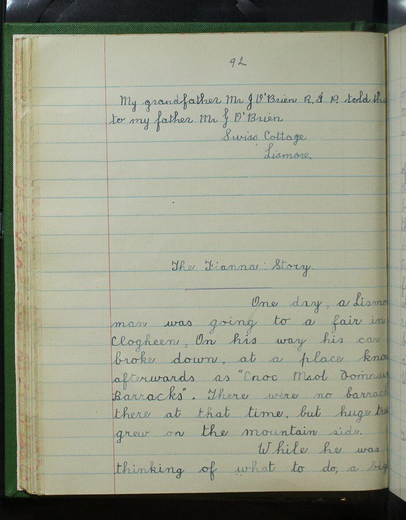 Clochar na Toirbhirte | The Schools' Collection
