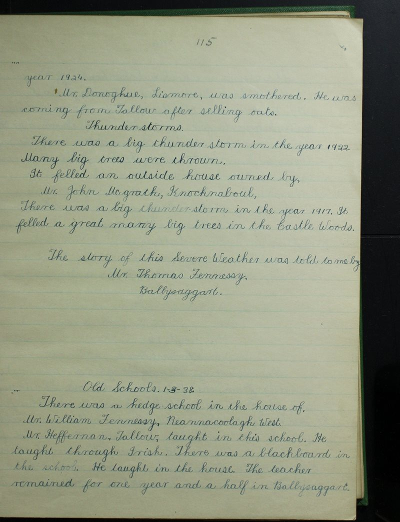 Baile na Sagart, Lios Mór | The Schools' Collection