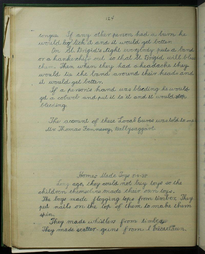 Baile na Sagart, Lios Mór   The Schools' Collection