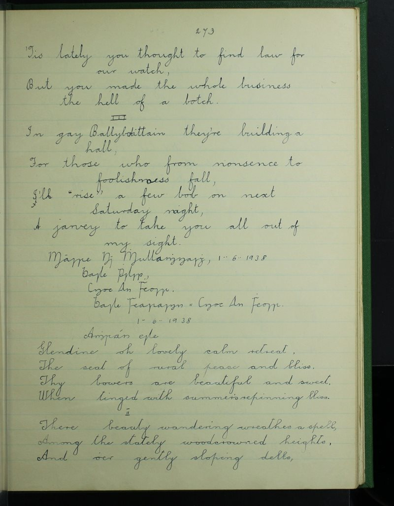 Knockanore, Tulach an Iarainn | The Schools' Collection