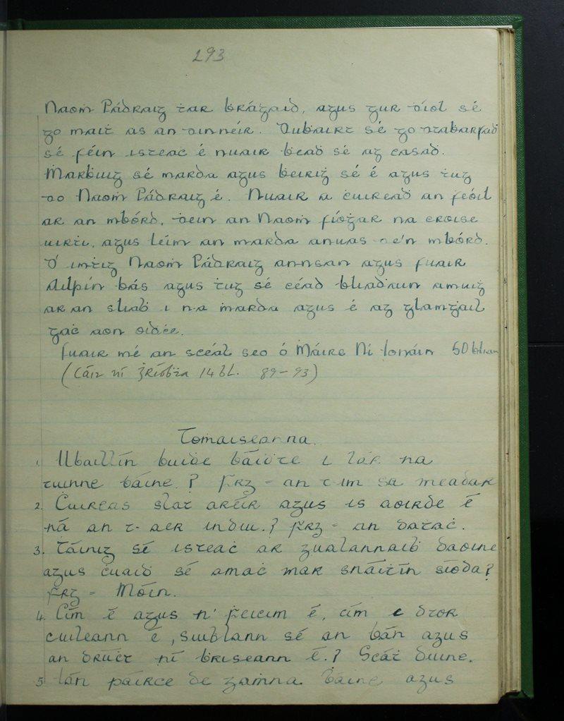 Maol an Chóirne, An Rinn   The Schools' Collection