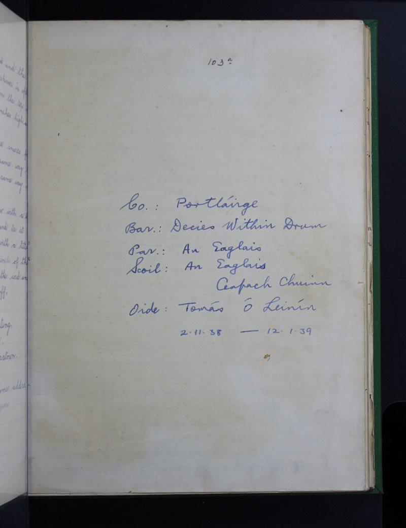 An Eaglais, Ceapach Chuinn | The Schools' Collection