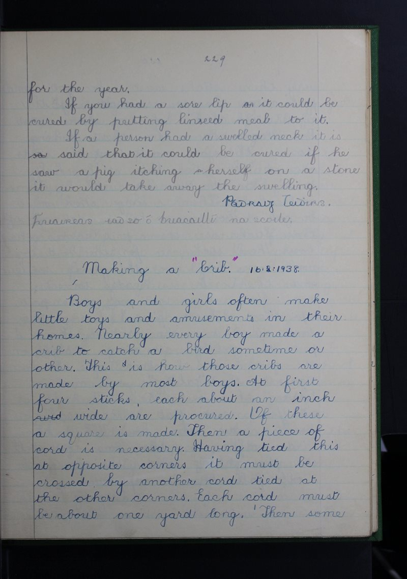 Tuar an Fhíona, Cluain Meala | The Schools' Collection