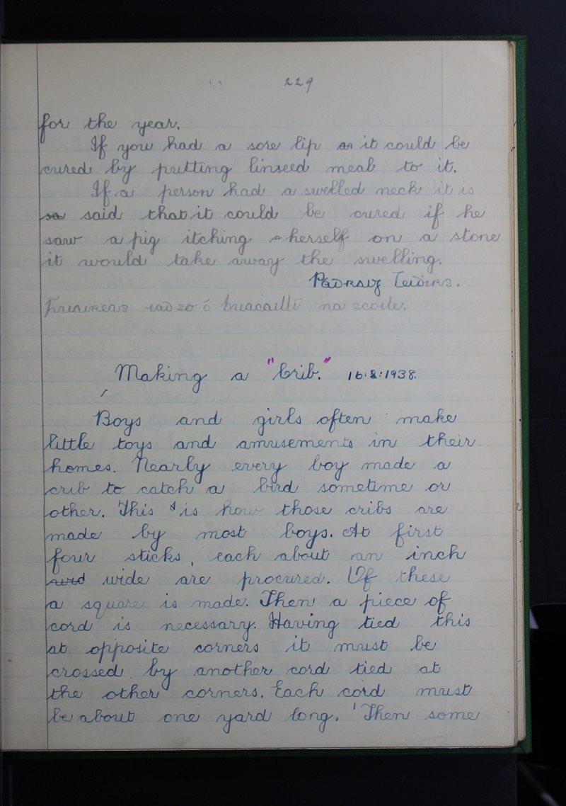 Tuar an Fhíona, Cluain Meala | The Schools' Collection