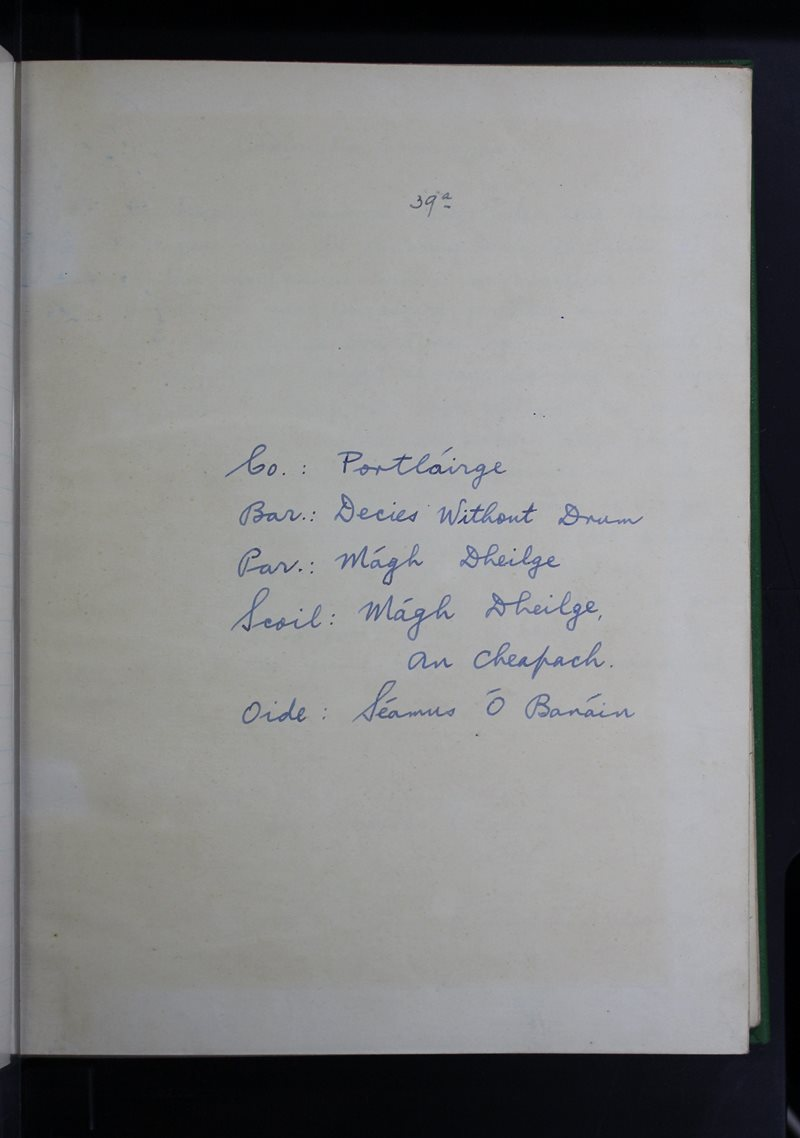 Mágh Dheilge, An Cheapach | The Schools' Collection