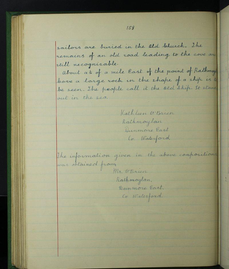 An Clochar, Dún Mór   The Schools' Collection