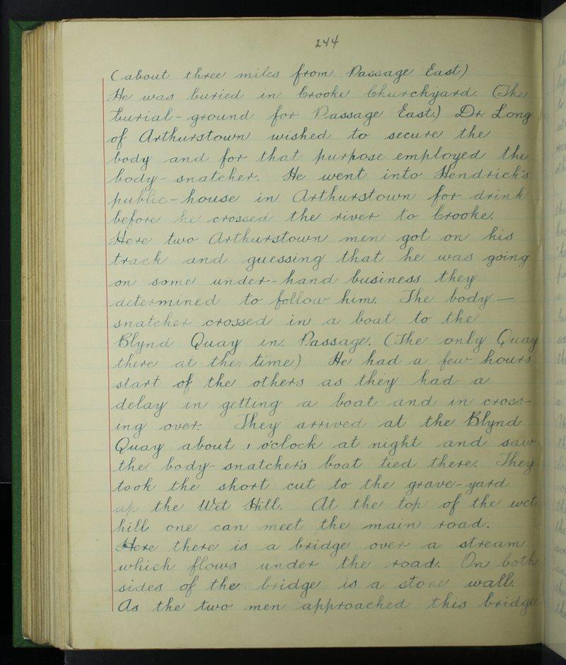 An Pasáiste Thoir (C.), Port Láirge | The Schools' Collection