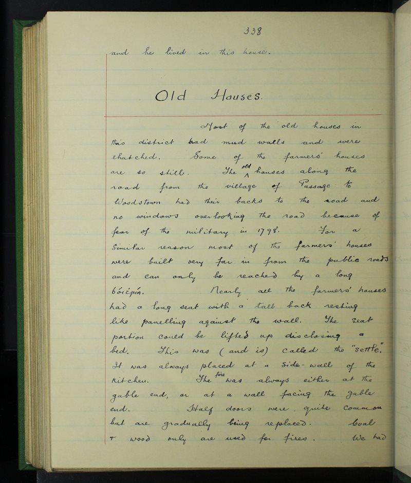 An Pasáiste Thoir (C.), Port Láirge   The Schools' Collection