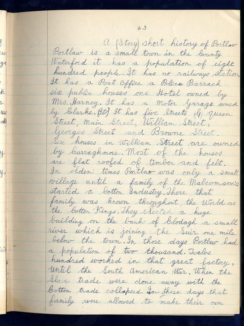 An Charraig Bheag, Carraig na Siúire   The Schools' Collection