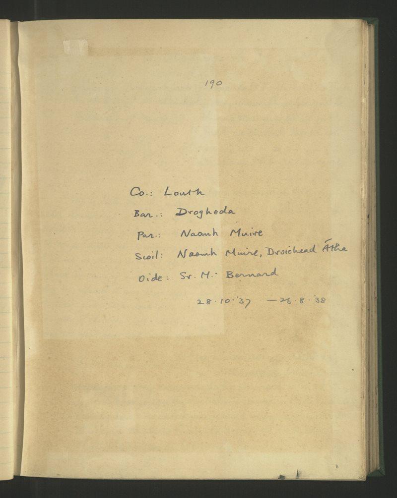 Naomh Muire, Droichead Átha   The Schools' Collection