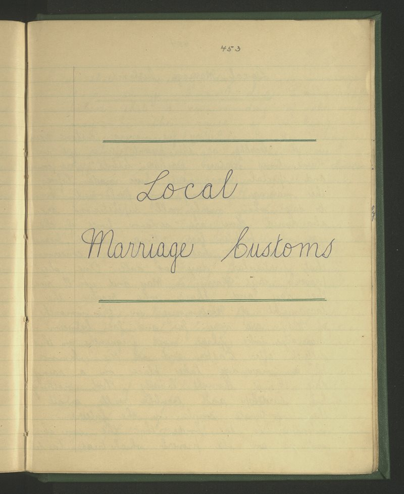 Local Marriage Customs