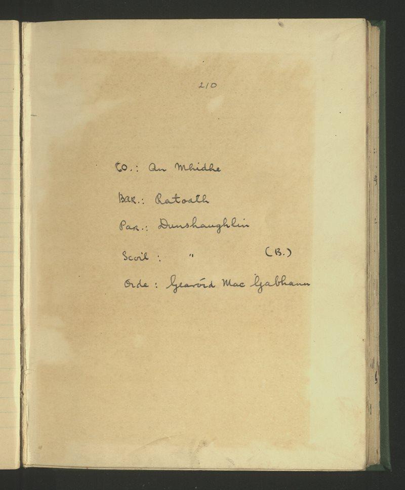 Dunshaughlin (B.)   The Schools' Collection