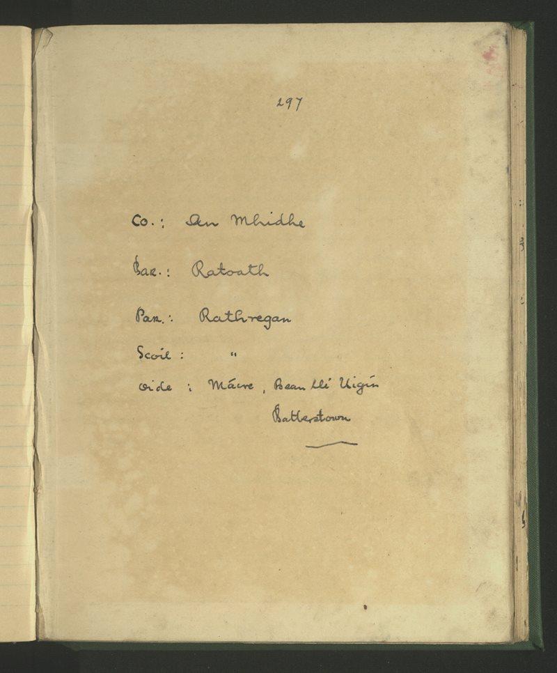 Rathregan | The Schools' Collection
