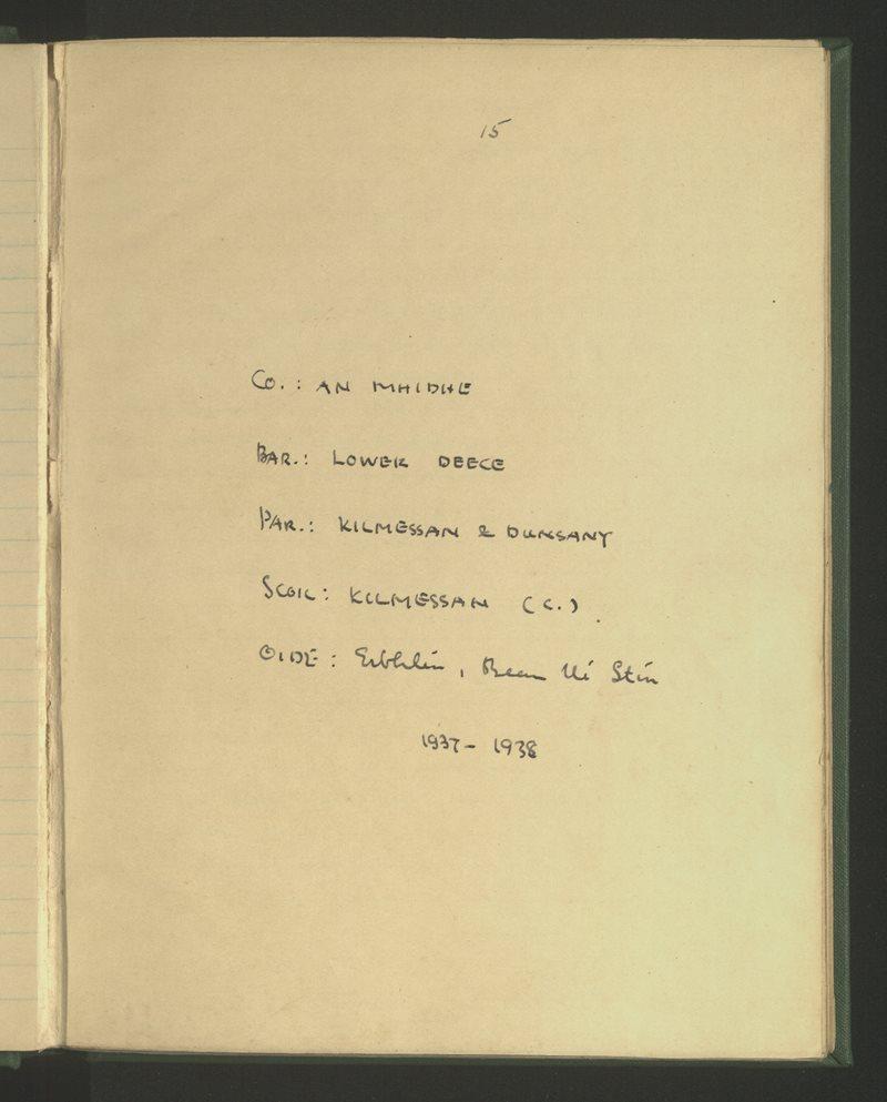Kilmessan (C.) | The Schools' Collection