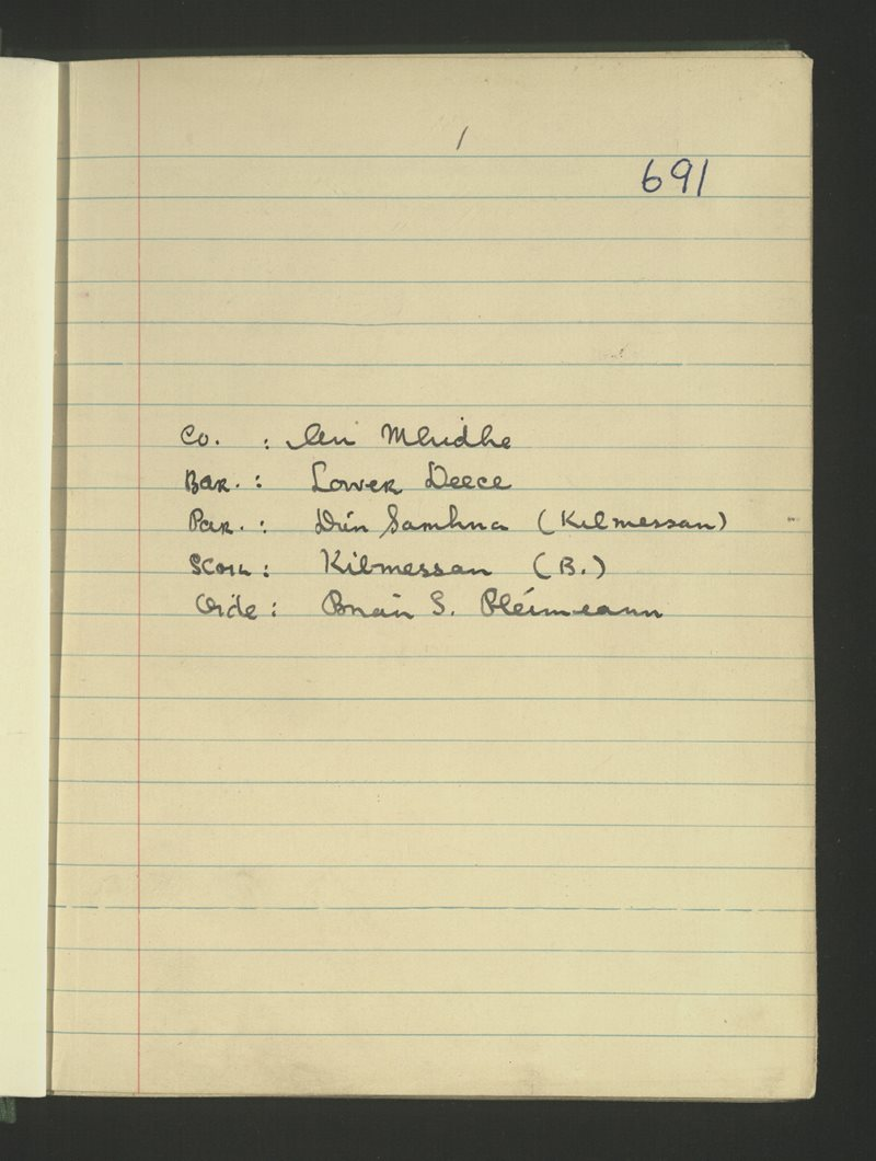 Kilmessan (B.)   The Schools' Collection