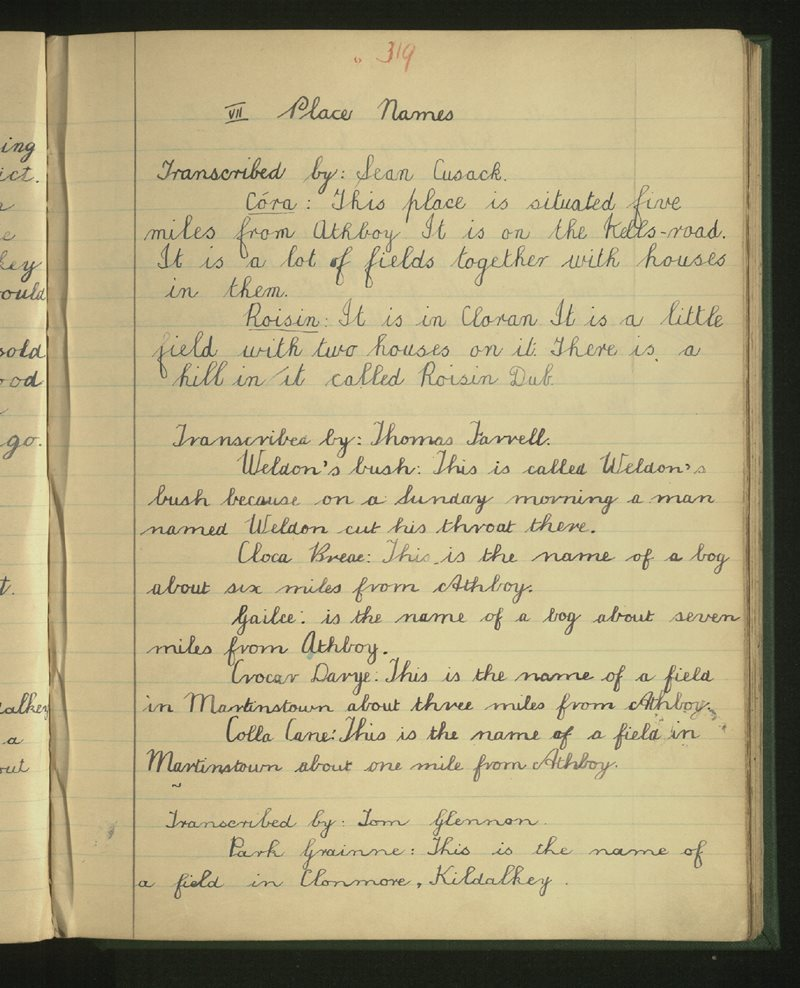 Athboy   The Schools' Collection