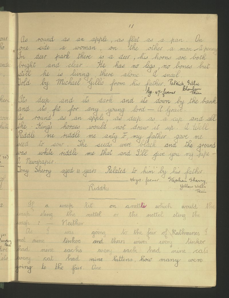 Kilbride | The Schools' Collection