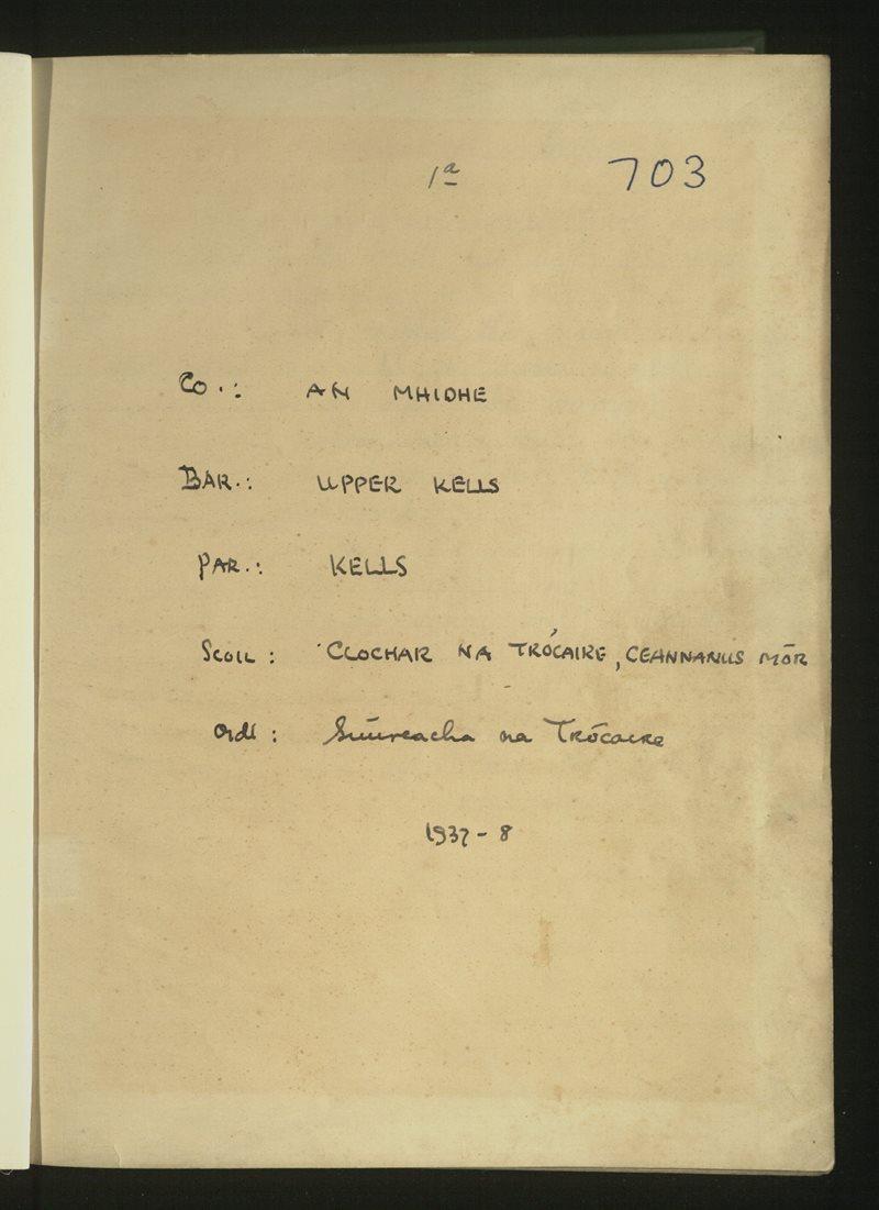 Clochar na Trócaire, Ceannanus Mór | The Schools' Collection
