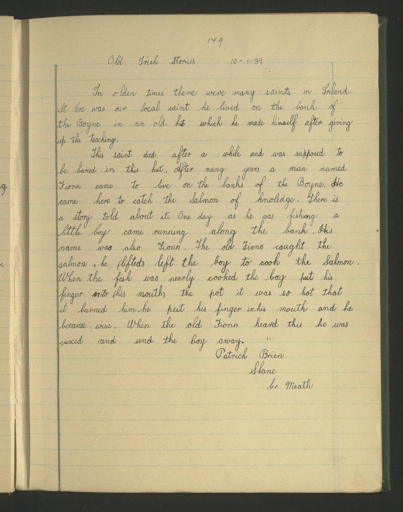 Old Irish Stories