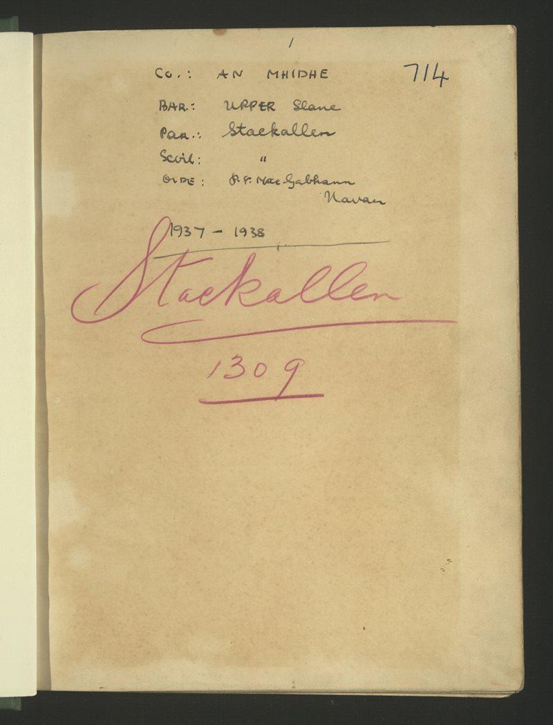 Stackallen | The Schools' Collection