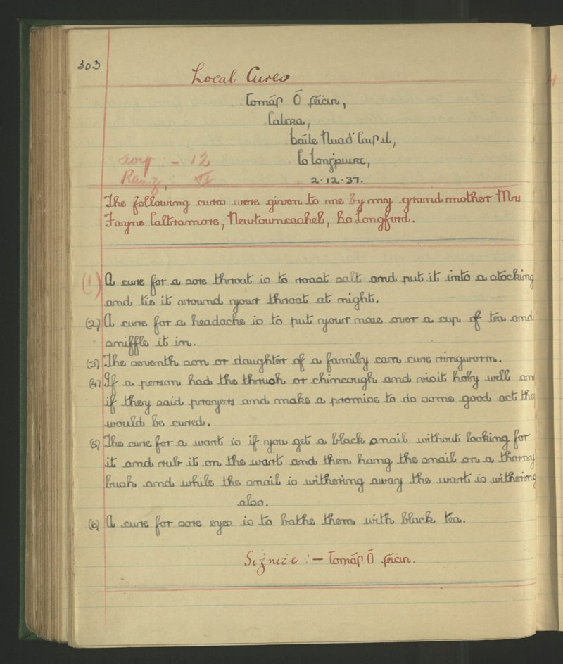 Carnadough (B.), Newtowncashel | The Schools' Collection