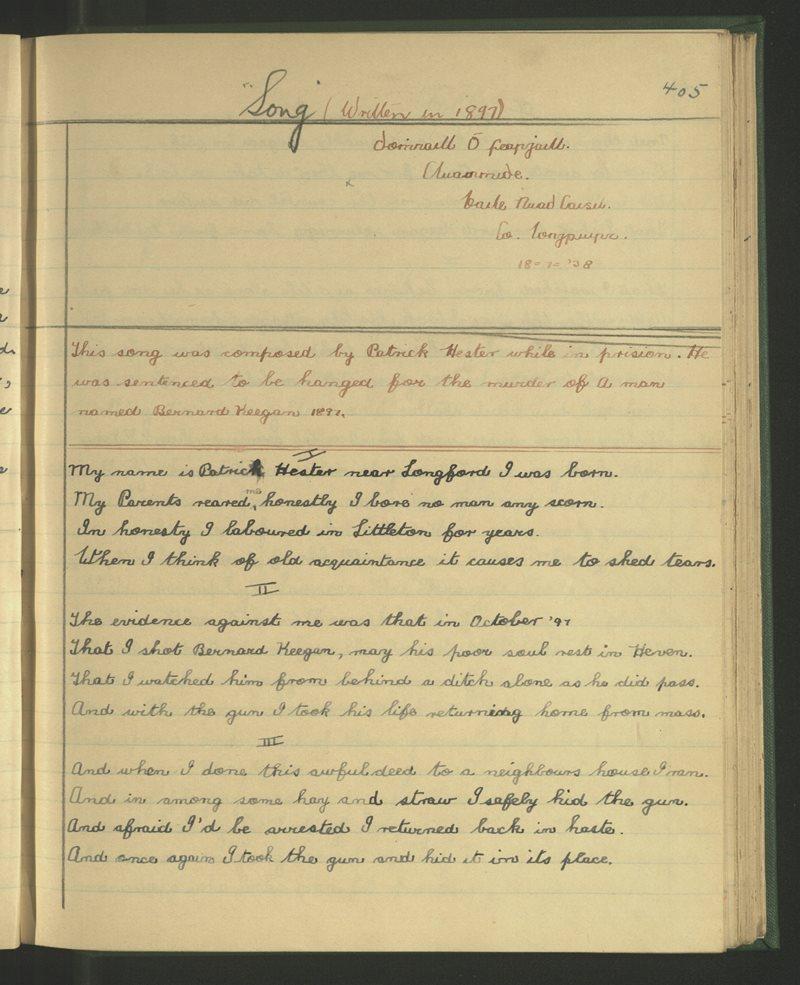 Song - Written in 1897