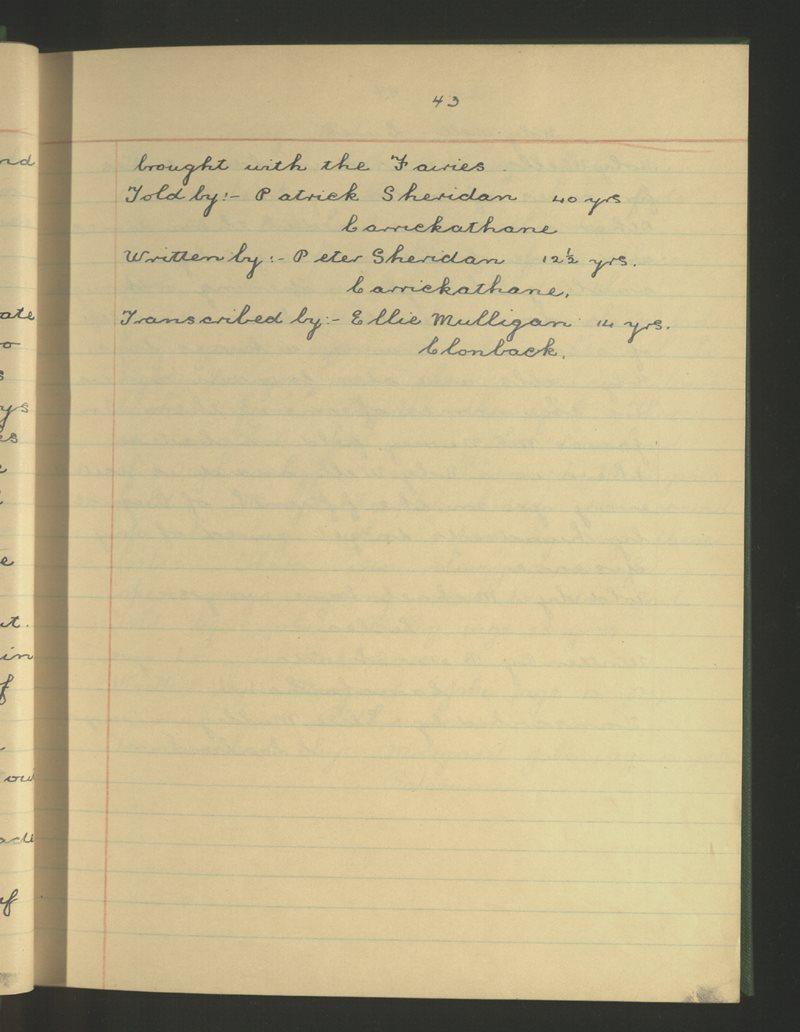 Edenmore, Ballinamuck   The Schools' Collection