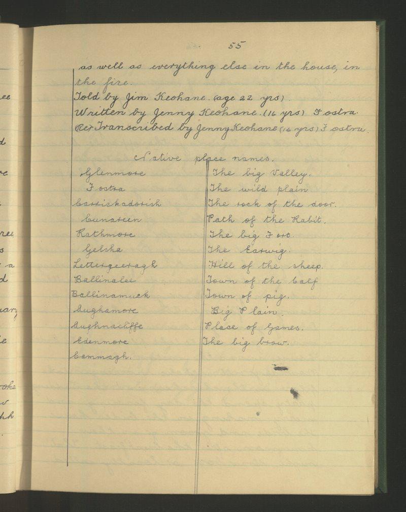 Edenmore, Ballinamuck | The Schools' Collection