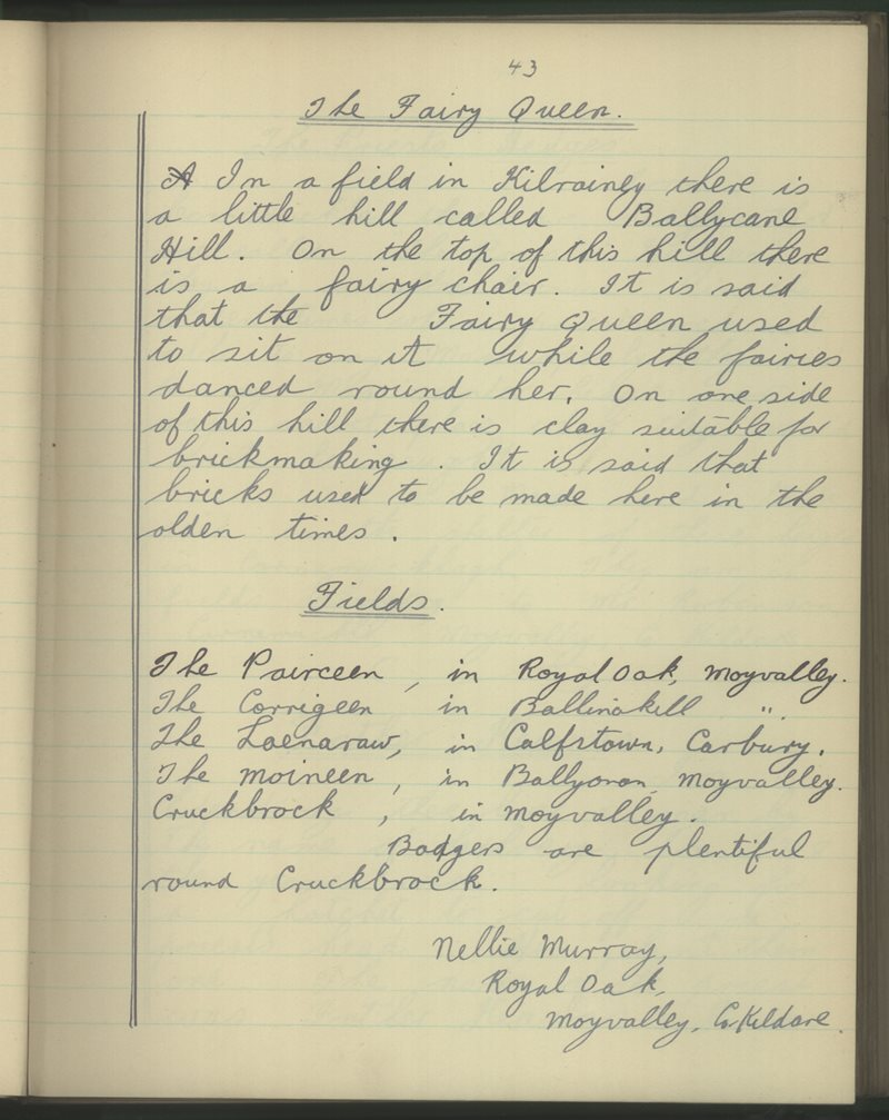 Broadford, Moyvalley   The Schools' Collection