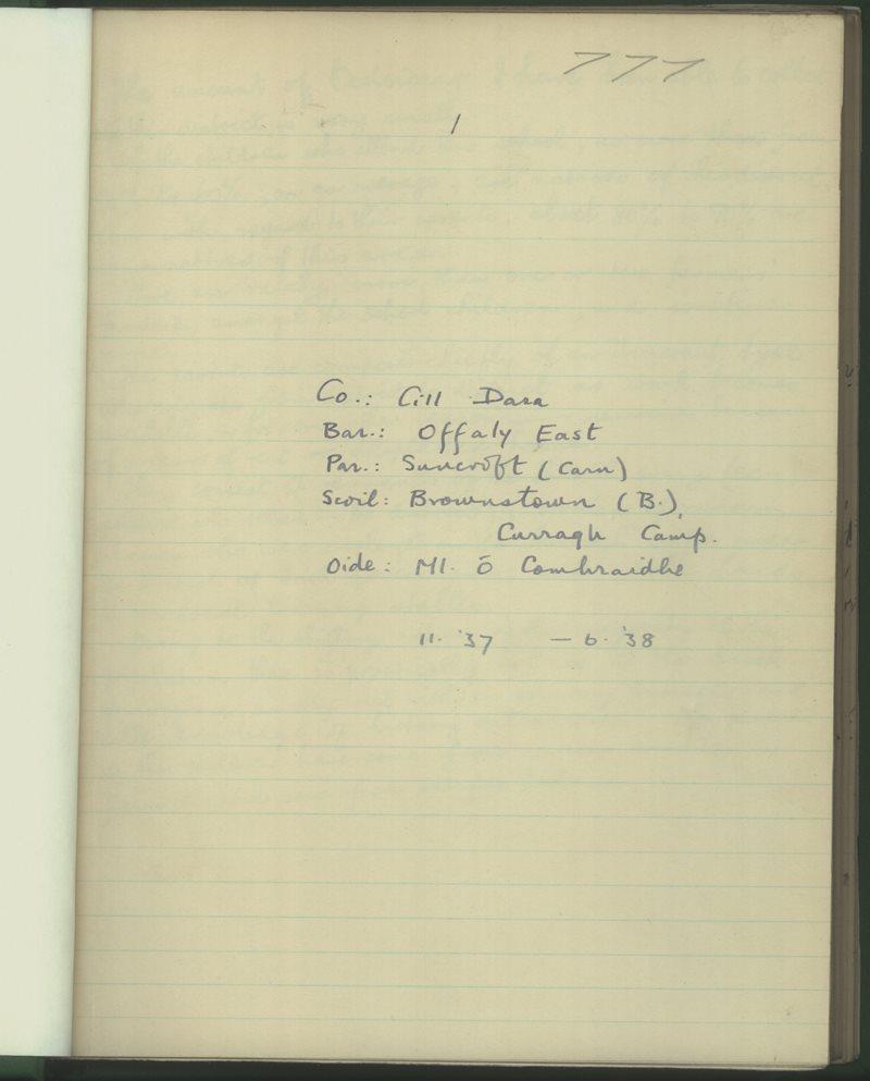 Brownstown (B.), Curragh Camp | Bailiúchán na Scol