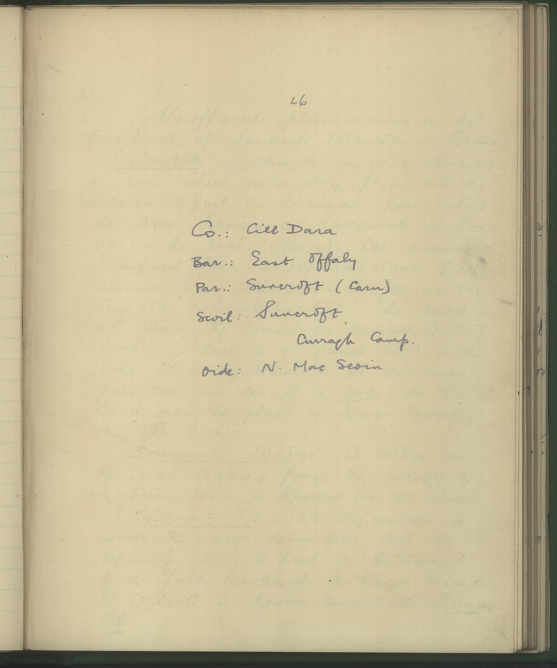 Suncroft, Curragh Camp | The Schools' Collection