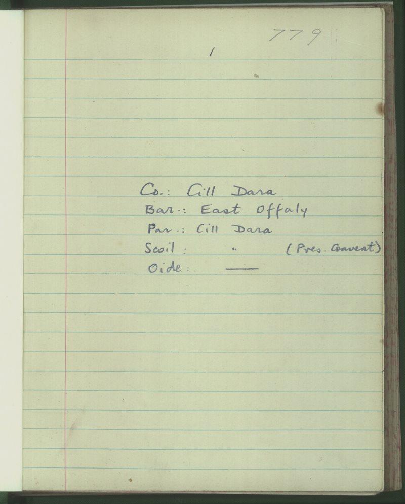 Cill Dara (Pres. Convent)   Bailiúchán na Scol