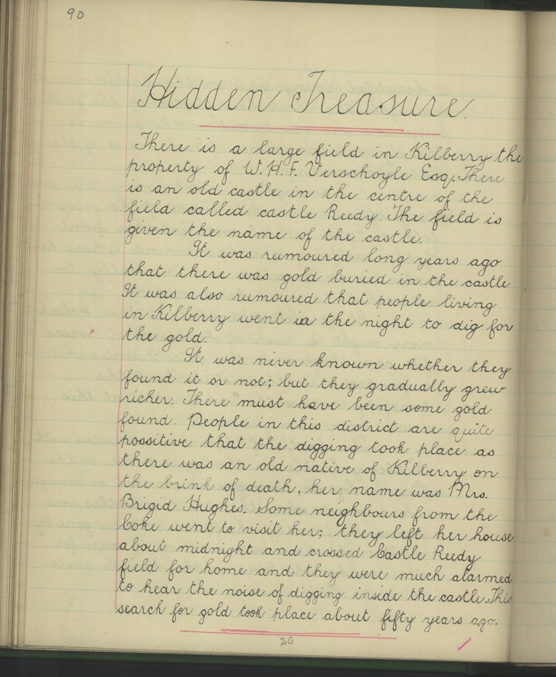 Kilberry, Athy   The Schools' Collection