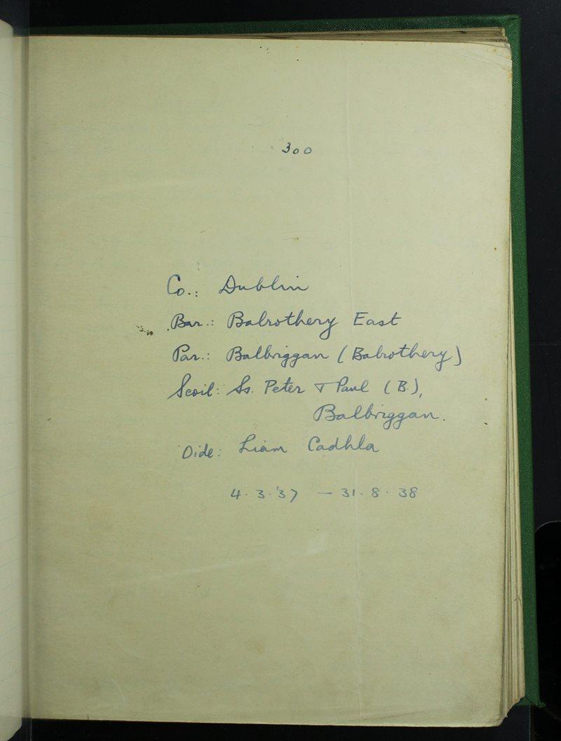Ss. Peter & Paul (B.), Balbriggan | The Schools' Collection