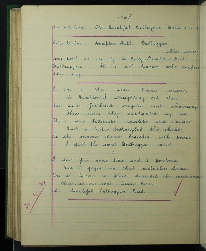 An Old Song - The Beautiful Balbriggan