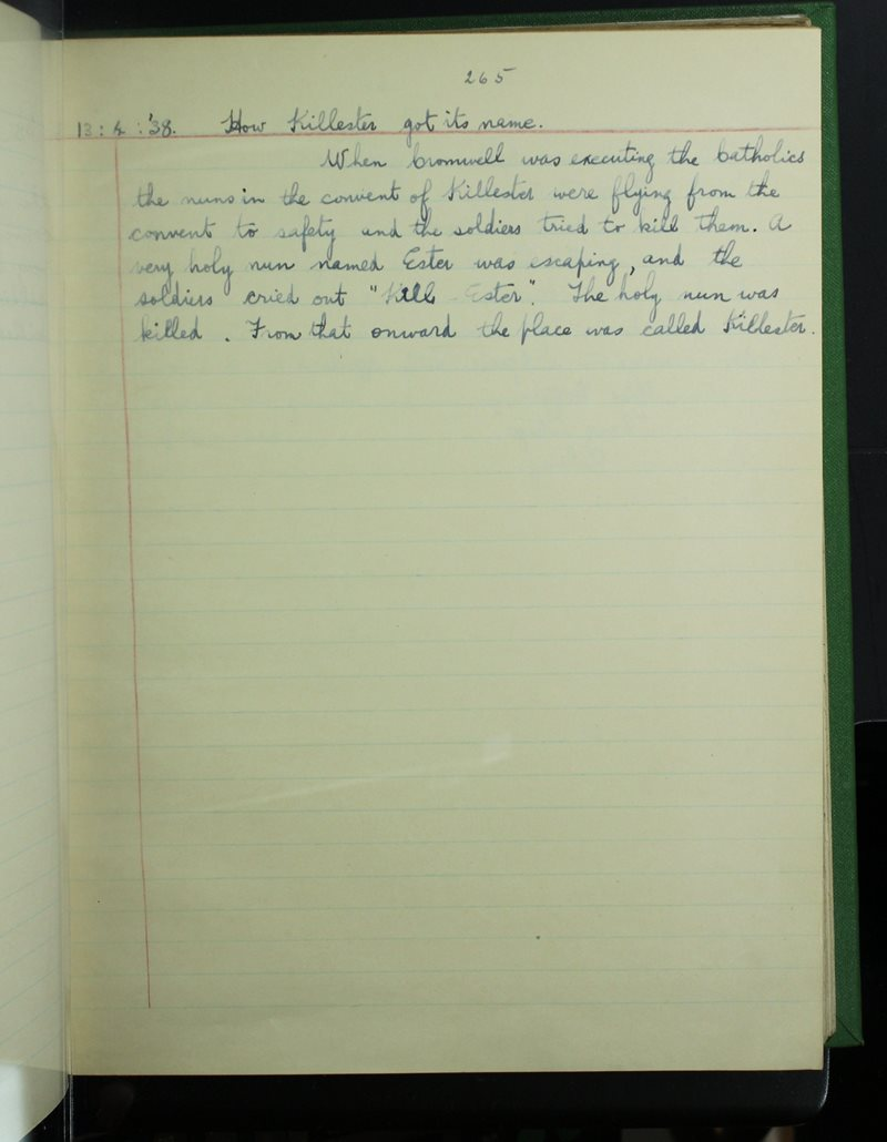 Raheny (1) | The Schools' Collection
