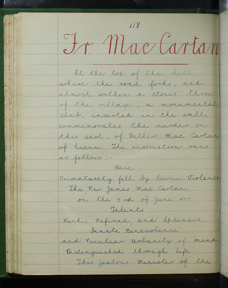 Fr Mac Cartan