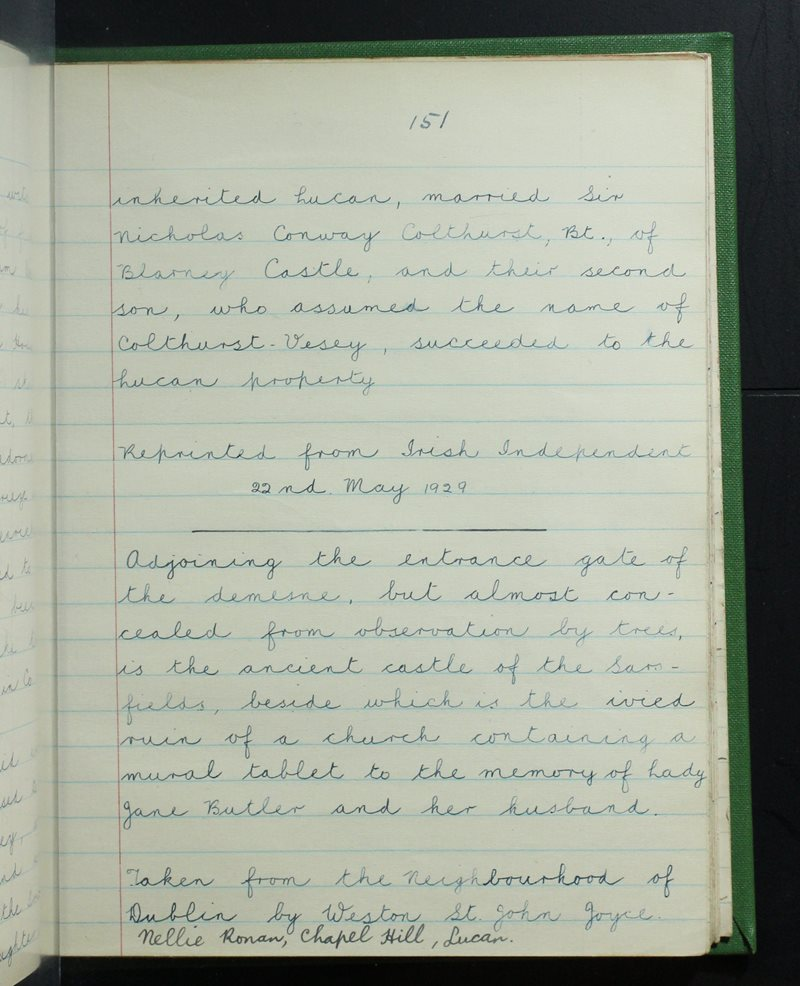 Presentation Convent, Lucan | The Schools' Collection