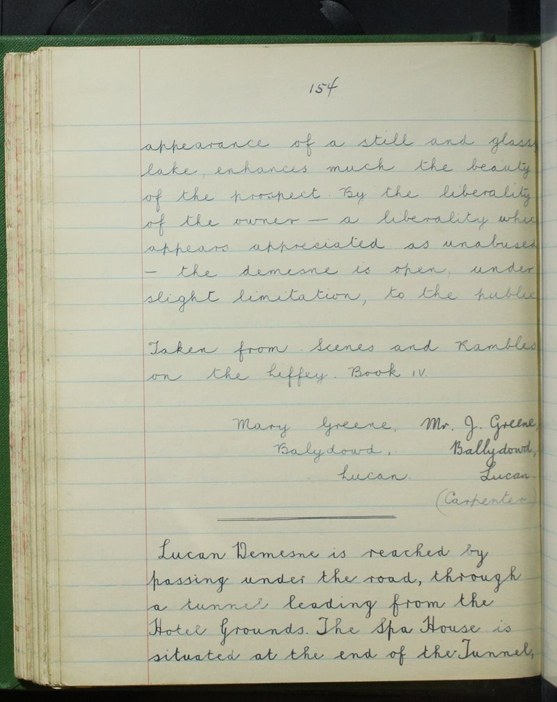 Presentation Convent, Lucan   The Schools' Collection