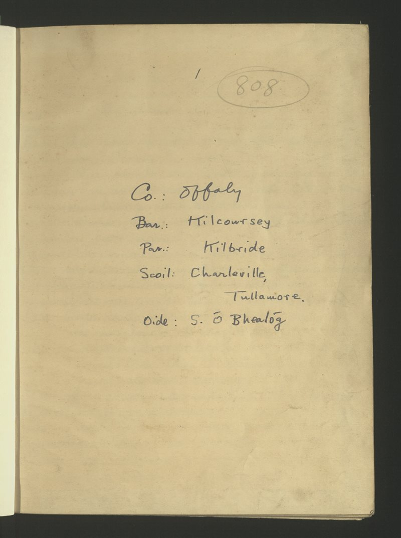 Charleville, Tullamore | The Schools' Collection
