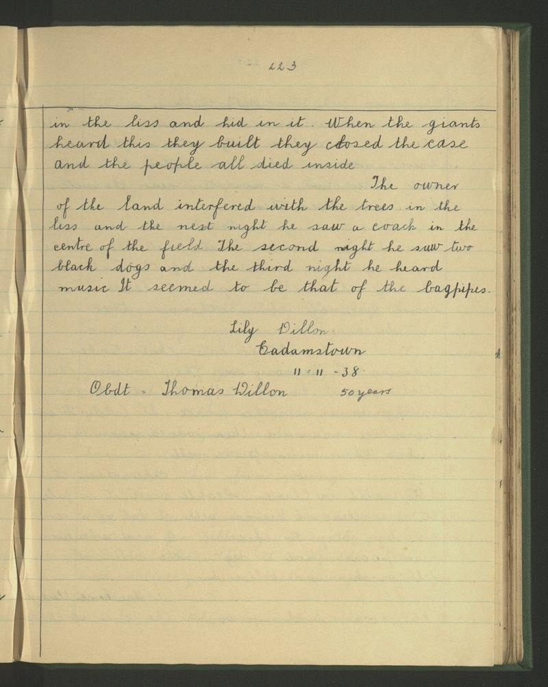Cadamstown, Kinnitty | The Schools' Collection