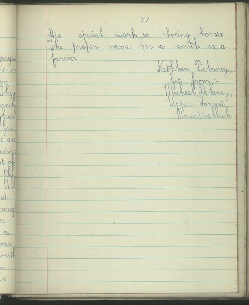 Mountmellick Convent | The Schools' Collection